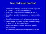 true and false exercise