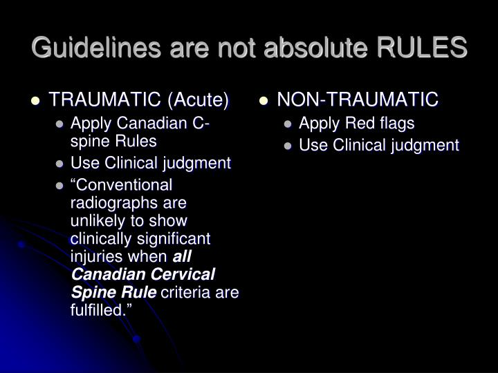 Guidelines are not absolute rules
