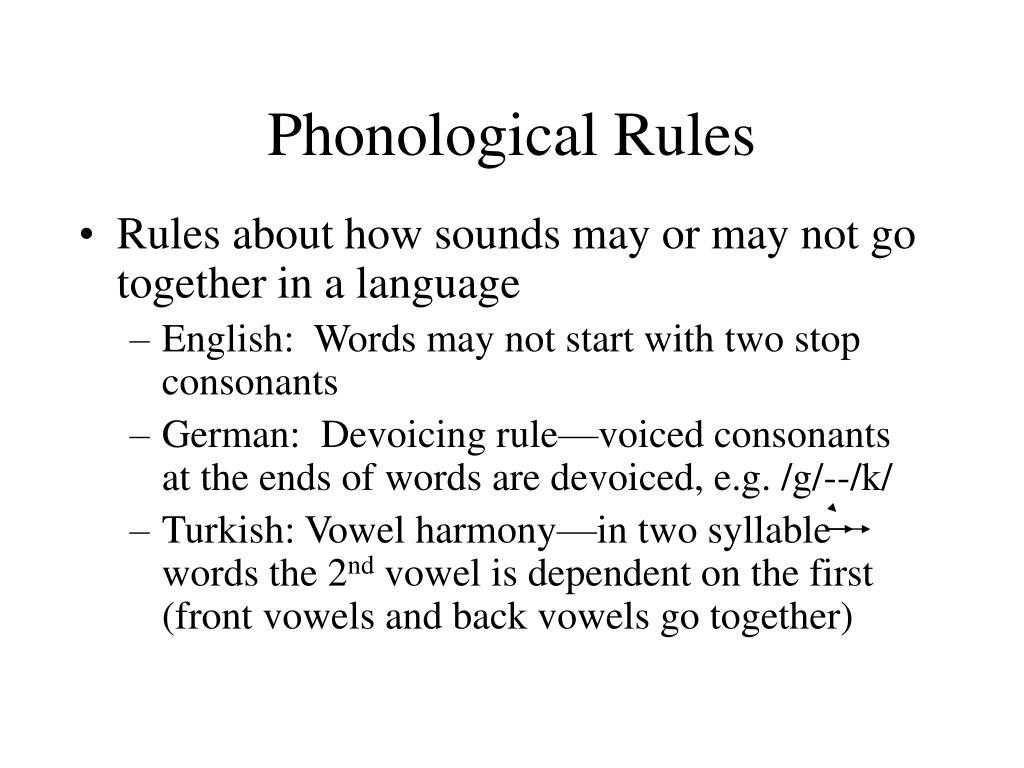 phonological rules l.