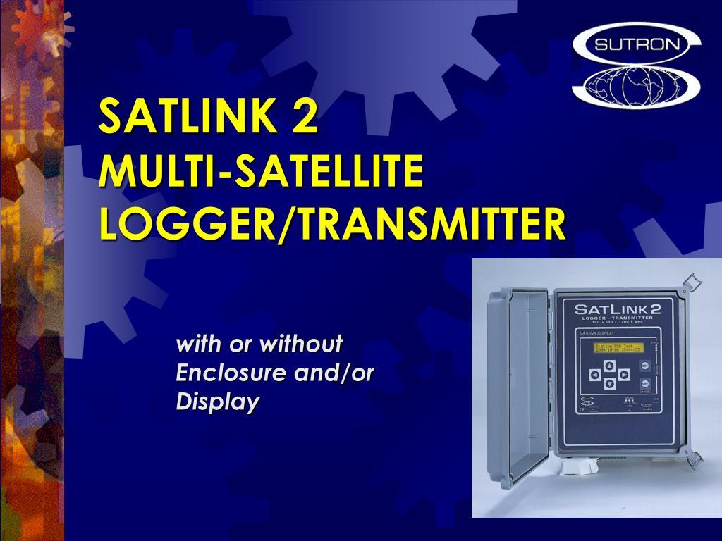 satlink 2 multi satellite logger transmitter l.
