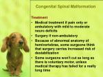 congenital spinal malformation49