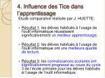 4 influence des tice dans l apprentissage