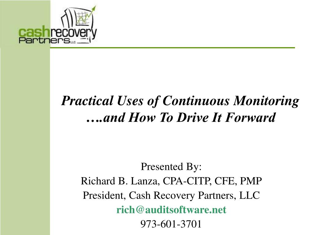 practical uses of continuous monitoring and how to drive it forward l.