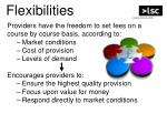 flexibilities