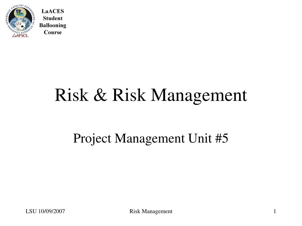 risk risk management l.