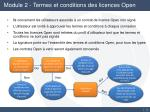module 2 termes et conditions des licences open