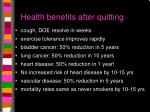 health benefits after quitting