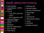 health effects from smoking