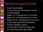 nicotine lozenges commit