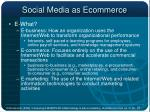 social media as ecommerce