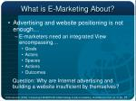 what is e marketing about