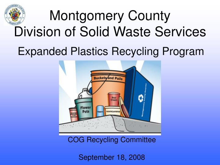 montgomery county division of solid waste services n.