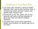 incidence of low back pain4