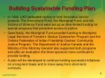 building sustainable funding plan