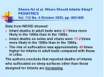 sheers nj et al where should infants sleep pediatrics vol 112 no 4 october 2003 pp 883 889