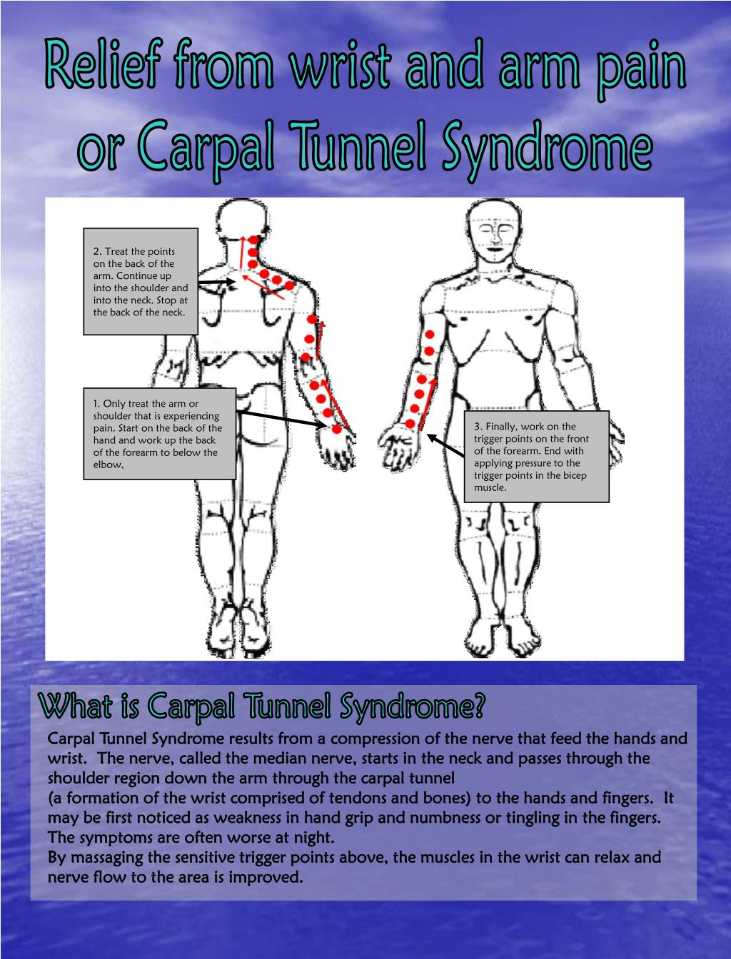 Relief from wrist and arm pain