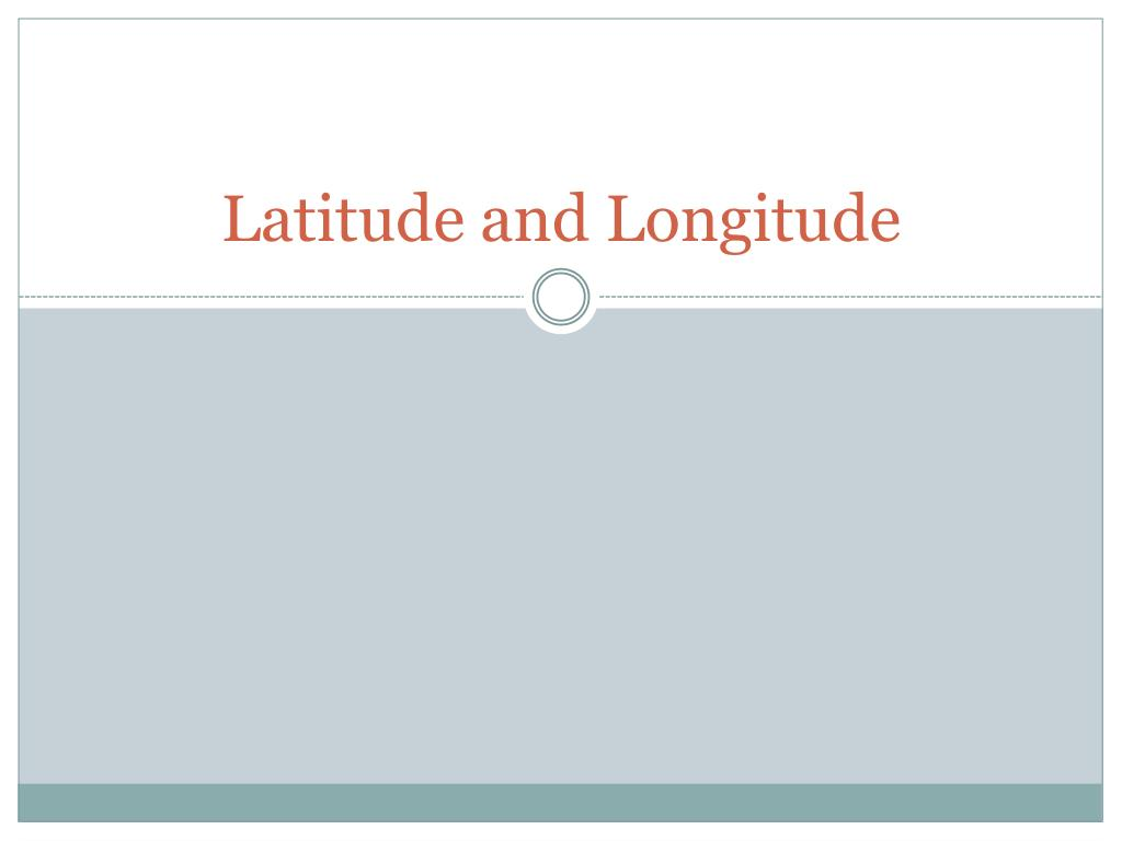 latitude and longitude l.