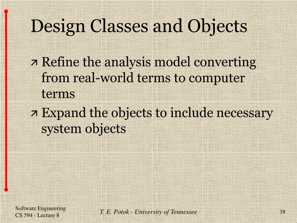 Design Classes and Objects