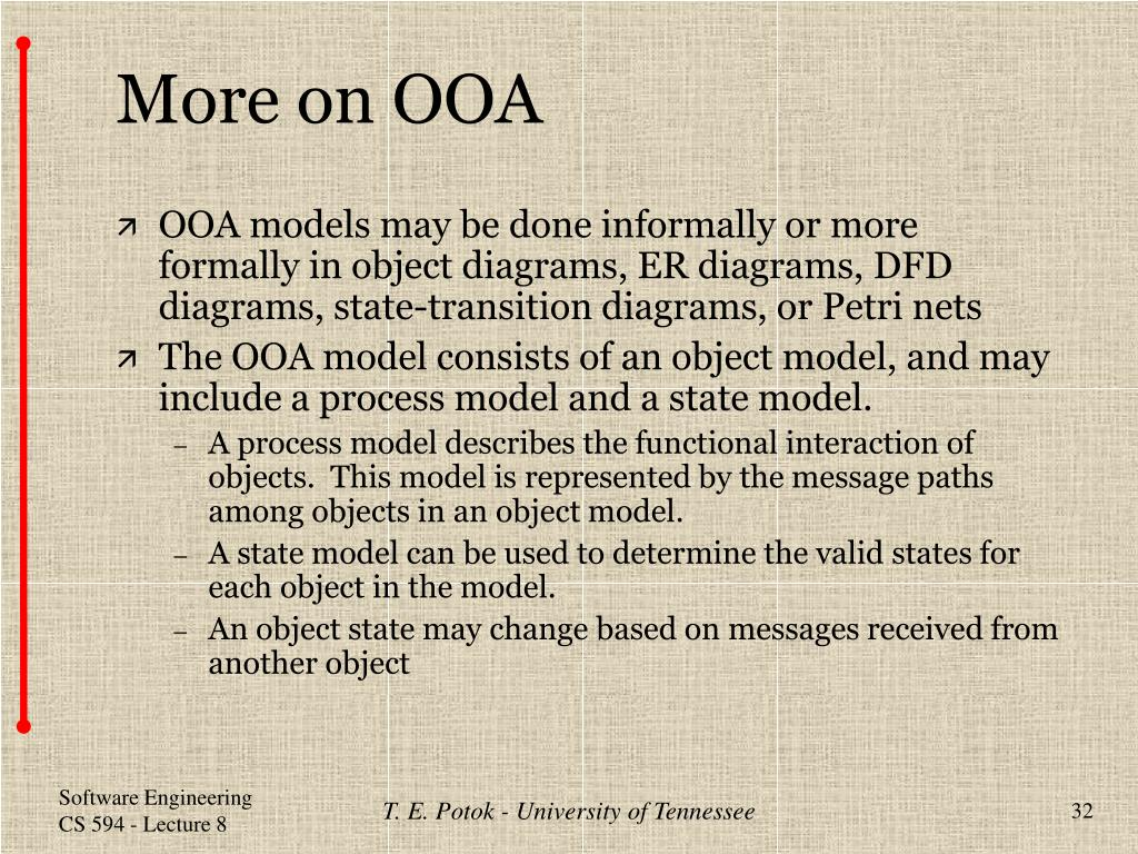 More on OOA