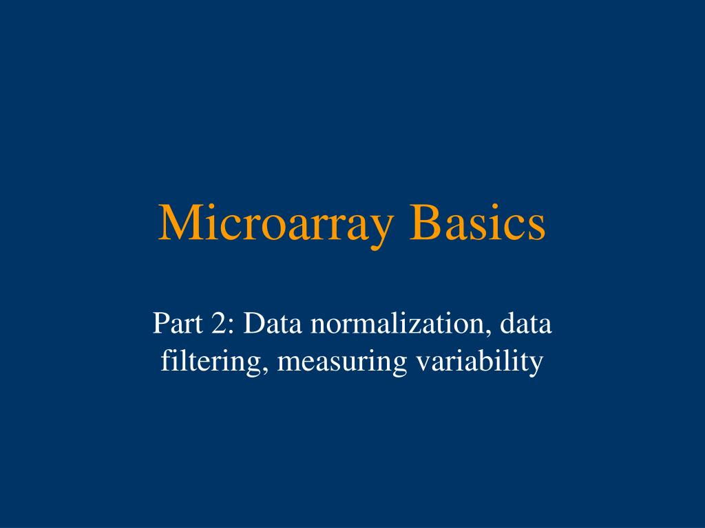 microarray basics l.