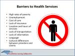 barriers to health services