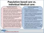 population based care vs
