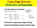 canny edge detector derivative of gaussian