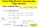 canny edge detector gaussian plus edge direction