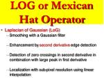 log or mexican hat operator