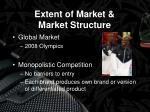 extent of market market structure