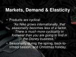 markets demand elasticity