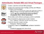 adminstudio reliable msi and virtual packages