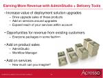 earning more revenue with adminstudio delivery tools