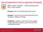 why do organizations invest in application packaging
