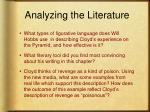 analyzing the literature
