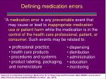 defining medication errors