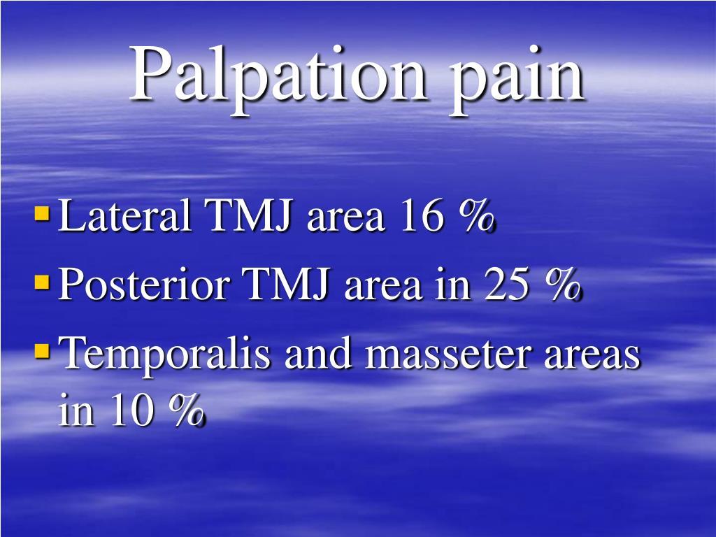 Palpation pain