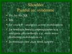 shoulder painful arc syndrome
