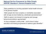 national service framework for older people nsfop standard 4 general hospital care