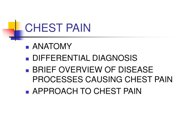 Chest pain3