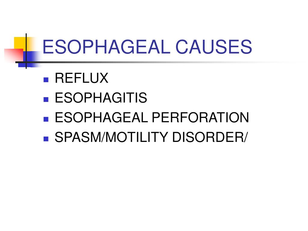 ESOPHAGEAL CAUSES
