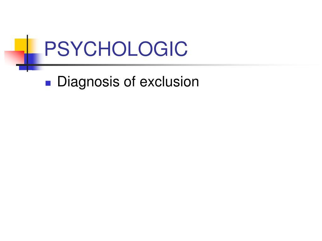 PSYCHOLOGIC