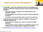 goals of the lexicon development
