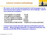 lexicon creation methodology10