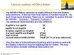 lexicon creation ntcir 2 kaken