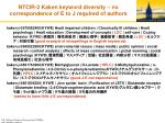ntcir 2 kaken keyword diversity no correspondence of e to j required of authors