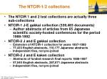 the ntcir 1 2 collections