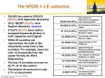 the ntcir 1 j e collection