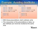 example avoiding deadlocks