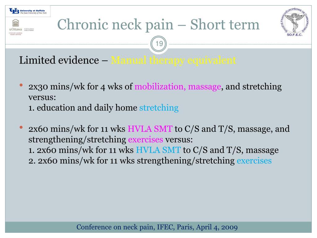 Chronic neck pain – Short term